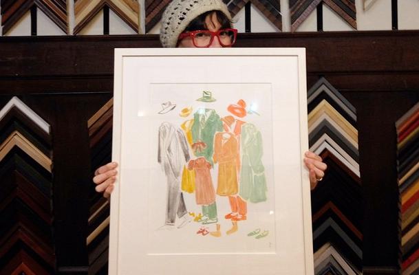 MassArt Auction, Rifrakt's own Sarah Gay-O'Neill representin'!